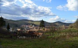 Atel Een dorp in Transsylvanië Roemenië Royalty-vrije Stock Afbeeldingen