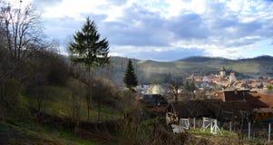 Atel Een dorp in Transsylvanië Roemenië Stock Afbeeldingen