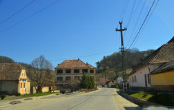 Atel Een dorp in Transsylvanië Roemenië Stock Fotografie