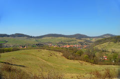 Atel Een dorp in Transsylvanië Roemenië Royalty-vrije Stock Fotografie
