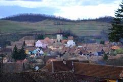 Atel fortyfikował kościół w Transylvania Rumunia Zdjęcia Royalty Free