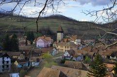 Atel versterkte kerk in Transsylvanië Roemenië Stock Foto's