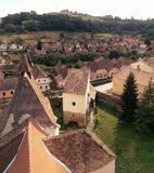 Atel village in Transylvania Royalty Free Stock Image