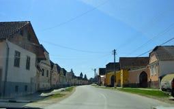 Atel Wioska w Transylvania Rumunia Zdjęcia Royalty Free