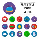 Atelie set icons in flat style. Big collection atelie vector symbol stock illustration Royalty Free Stock Photo