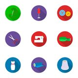 Atelie set icons in flat style. Big collection of atelie vector symbol stock illustration Royalty Free Stock Photo