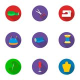 Atelie set icons in flat style. Big collection of atelie vector symbol stock illustration Royalty Free Stock Photography