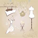 Atelier. Universal template for greeting card, web page, background Stock Photo