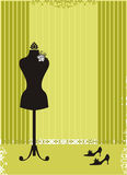 Atelier. Vintage Dress Form vector illustration