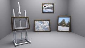 Atelier avec des illustrations de l'hiver Images libres de droits