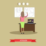 Atelier concept vector illustration in flat style Stock Photo