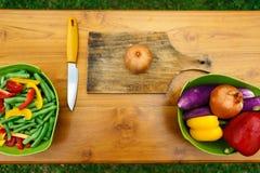 Atelier culinaire Salade végétale Images libres de droits