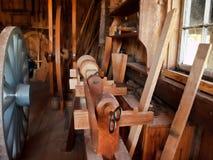 Atelier démodé de travailleurs du bois Photo stock