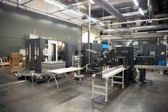 Atelier d'impression et x28 ; pressez le printing& x29 ; - Ligne d'arrivée photo libre de droits