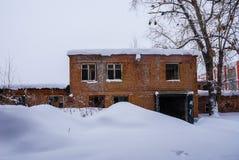 Atelier d'usine abandonnée Photographie stock libre de droits