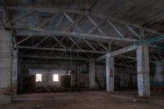 Atelier d'usine abandonnée Image stock