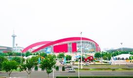 Atelier de carrosserie olympique de la jeunesse de Nanjing Photographie stock