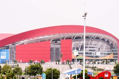Atelier de carrosserie olympique de la jeunesse de Nanjing Images stock