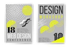 Atelier de conception, plaquette de conférence de conception Photographie stock