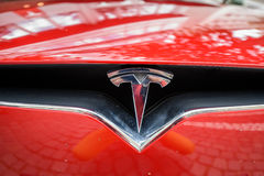 Atelier de construction mécanique de Tesla à Francfort Photos libres de droits