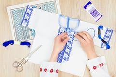 Atelier de couture et de broderie/lieu de travail Photo libre de droits