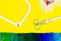 Atelier de couture et de broderie/lieu de travail Photographie stock