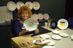 Atelier de démonstration de porcelaine de Meissen Photos libres de droits