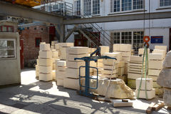 Atelier de réparation de maçons de York Minster Image stock
