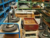 Atelier de réparations d'avions et d'hélicoptères Images stock