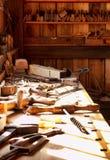 Atelier de travailleurs du bois Photos stock