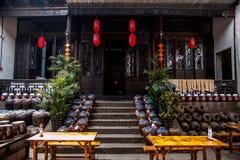 Atelier de vin de ville de Jiangsu Wuxi Huishan Photographie stock libre de droits