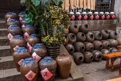 Atelier de vin de ville de Jiangsu Wuxi Huishan Photographie stock