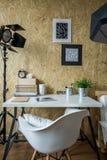 Atelier di giovane fotografo Immagine Stock