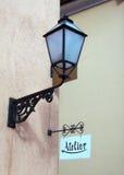 Atelier e lâmpada fotografia de stock royalty free