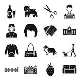 Atelier, food, architecture and other web icon in black style. Royalty Free Stock Image