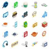 Atelier icons set, isometric style. Atelier icons set. Isometric set of 25 atelier vector icons for web isolated on white background Royalty Free Stock Photo