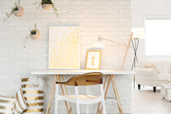 Atelier with living room space Stock Image