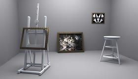 Atelier met beeld twee Stock Afbeeldingen