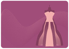 Atelier. Pink evening dress on mannequin Royalty Free Stock Photo