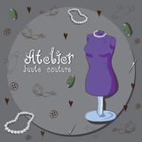 Atelier. Poster made in retro stile Royalty Free Illustration