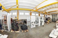 Atelier pour la production du panneau électrique Image stock