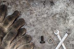 Atelier sale de bricoleur d'outils Photo stock