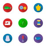 Atelier set icons in flat style. Big collection of atelie vector symbol stock illustration Stock Photography