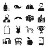 Atelier, style, fashion and other web icon in black style.   Royalty Free Stock Image