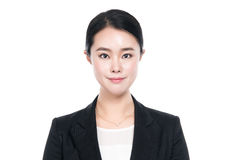 Atelieraufnahme des jungen asiatischen Frauenporträts - lokalisiert Stockfotografie