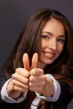 Atelieraufnahme einer jungen Geschäftsfrau Stockfotografie