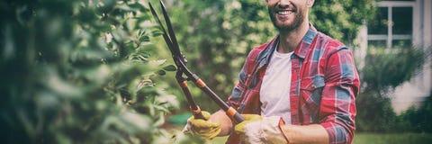 Ateliers de découpe de jardinier photo libre de droits
