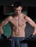 Atem-Übungen und Aufwärmen Stockfotos