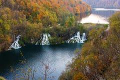 Atemberaubende Ansicht in die Plitvice Seen Stockbild