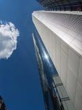 Atemberaubende Ansicht von Wolkenkratzern in Frankfurt, Deutschland Stockbilder